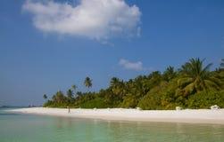 Beautiful beach at Meeru , Maldives Stock Photo