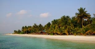 Beautiful beach at Meeru , Maldives Royalty Free Stock Images