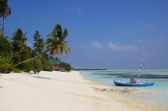 Beautiful beach at Meeru , Maldives Royalty Free Stock Photos