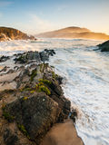 Beautiful beach in Meiras, Galicia, Spain Stock Images