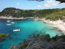 Beautiful beach in Menorca royalty free stock photo