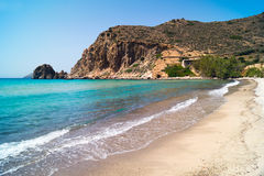 Beautiful beach on Milos island. Greece Stock Photos