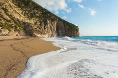 The beautiful beach of Milos (Lefkada) Royalty Free Stock Photography