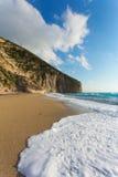 The beautiful beach of Milos (Lefkada) Stock Photo