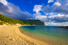 Beautiful beach in the monte conero nature reserve Stock Photos