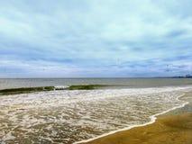 Beautiful beach in the morning Stock Photos