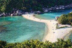 Beach of Nang Yuan island, Thailand Royalty Free Stock Images