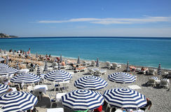 Beautiful beach of Nice Stock Image