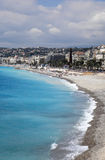 Beautiful beach in Nice during summer Stock Photos