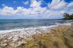 Beautiful beach on Oahu North Shore Hawaii & x28;Turtle beach& x29; Royalty Free Stock Photo