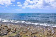 Beautiful beach on Oahu North Shore Hawaii & x28;Turtle beach& x29; Royalty Free Stock Image