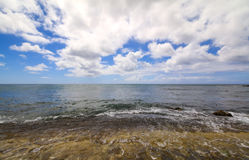 Beautiful beach on Oahu North Shore Hawaii & x28;Turtle beach& x29; Royalty Free Stock Images
