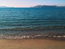 Beautiful beach. At the ocean Royalty Free Stock Photos