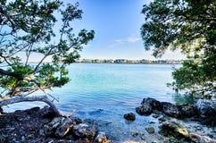 Beautiful beach and ocean scenes in florida keys Royalty Free Stock Images