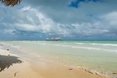 Ocean view. A beautiful beach and ocean view Royalty Free Stock Image