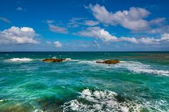 Ocean view. A beautiful beach and ocean view Stock Photography