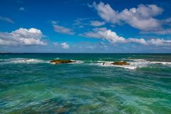 Ocean view. A beautiful beach and ocean view Royalty Free Stock Images