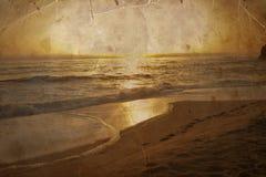 Beautiful beach, Ocean water with waves. Sea shore Stock Image