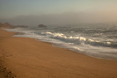 Beautiful beach, Ocean water with waves. Sea shore Stock Photography