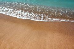 Beautiful beach and ocean waves Royalty Free Stock Photography