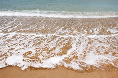 Beautiful beach and ocean waves Royalty Free Stock Images