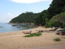 The beautiful beach below Ma Hung park, Stanley, Hong Kong stock images