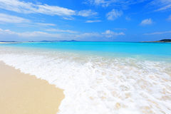 Beautiful beach in Okinawa. Summer sky and beautiful beach of Okinawa Royalty Free Stock Images