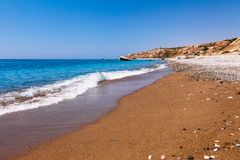 Beautiful Beach On Petra Tou Romiou (The Rock Of The Greek), Aphrodite S Legendary Birthplace In Paphos, Cyprus Island, Stock Photography