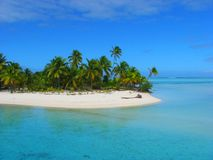 Beautiful beach in One Foot Island, Aitutaki, Cook Islands Royalty Free Stock Photos