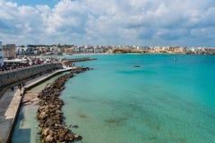 Beautiful beach of Otranto in Puglia, Italy. Royalty Free Stock Photo