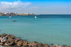Beautiful beach of Otranto in Puglia, Italy. Stock Photography
