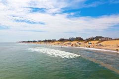 Beautiful beach at the outer banks Royalty Free Stock Photos