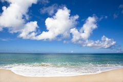 Beautiful beach of Pacific ocean Royalty Free Stock Photography