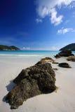 Beautiful Beach Panorama. Beautiful Panorama in a luxury tropical spa resort Royalty Free Stock Image