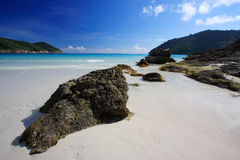 Beautiful Beach Panorama. Beautiful Panorama in a luxury tropical spa resort Stock Photos