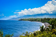 Beautiful Beach Panorama in Bali Stock Photography