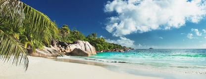 Beautiful Beach Panorama Stock Photography