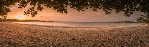 Beautiful beach with panoramic view stock photos