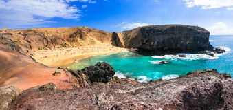 Beautiful beach Papagayo in Lanzarote. Canary islands, Spain Stock Photo