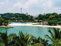 Beautiful beach paradise background photography day Singapore. Beautiful day in Singapore town vacation destination Stock Photography