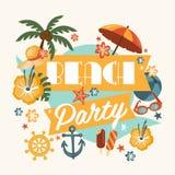 Beautiful Beach Party Design Royalty Free Stock Photo