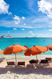 Beautiful beach in Philipsburg, Saint Martin Stock Photography