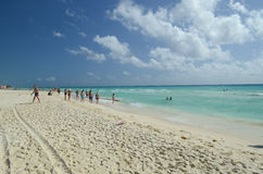 Beautiful beach in Playa del Carmen Stock Photo