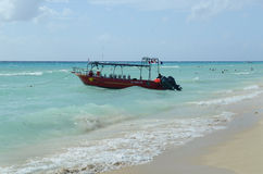 Beautiful beach in Playa del Carmen Stock Photography