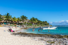 The beautiful beach of Playa del Carmen in Mexico. Stock Photo