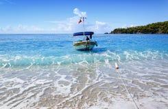 Beautiful beach in popular turkish resort Oludeniz, aegean Turkey Royalty Free Stock Photo
