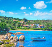 Beautiful beach in Porto Cervo. Italy Royalty Free Stock Photos