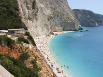Beautiful beach Porto katsiki in Lefkada Greece. View from the top. Stock Image
