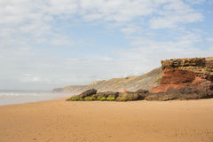 Beautiful beach in Portugal on a sunny day Stock Photos