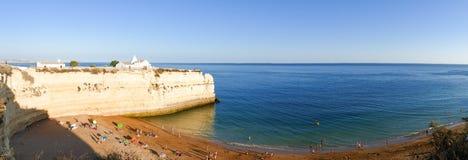 Beautiful beach Praia da Senhora da Rocha in Portugal, Algarve - Panorama Picture Stock Photography